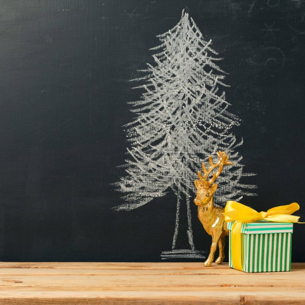 Alternative Christmas Tree Made Of Wood Steel And