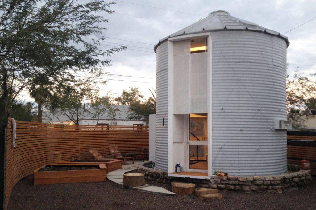 grain silo converted into house