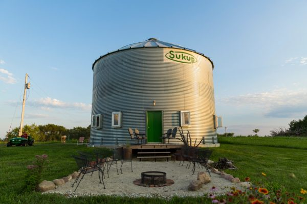 grain silo converted into house